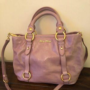 Miu Miu leather pink purse